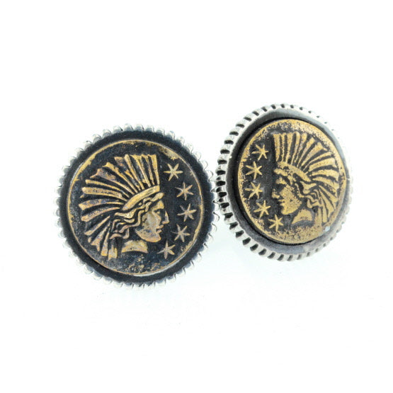 Liberty Headdress Concho Cufflinks