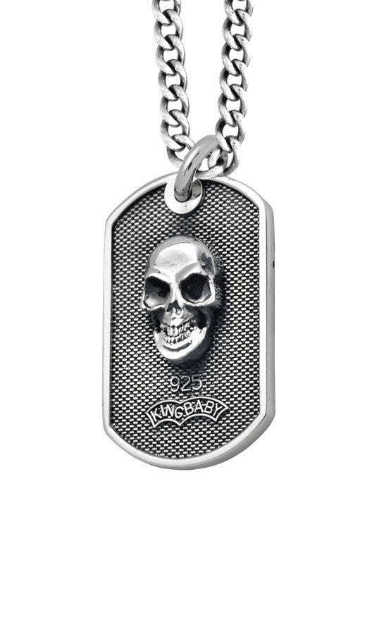 Pendants | Small Skull Dog Tag