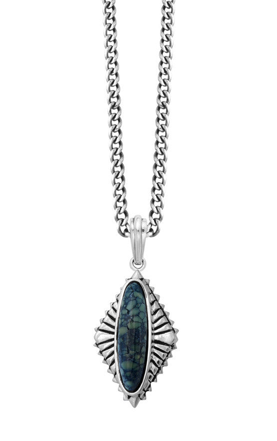 Top Hat Spotted Turquoise Concho Pendant