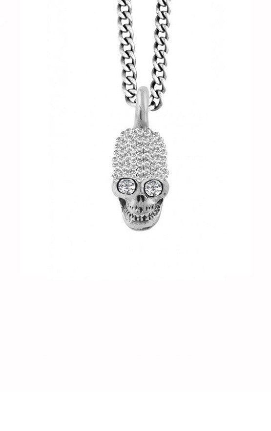Small Skull Pendant Pave CZ