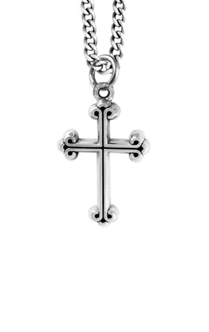 Mens cross pendant sterling silver cross pendants for men king baby traditional cross pendant mozeypictures Images