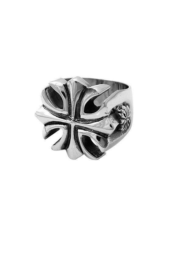 king baby men's gothic cross ring