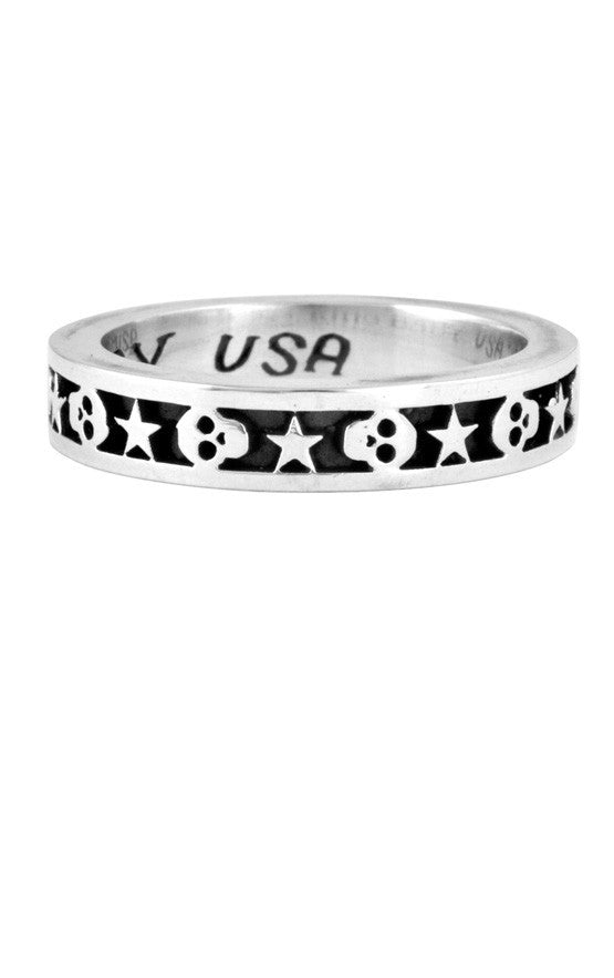 king baby men's star and skull ring
