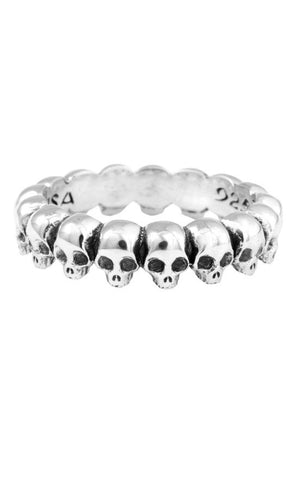 king baby mens skull infinity ring