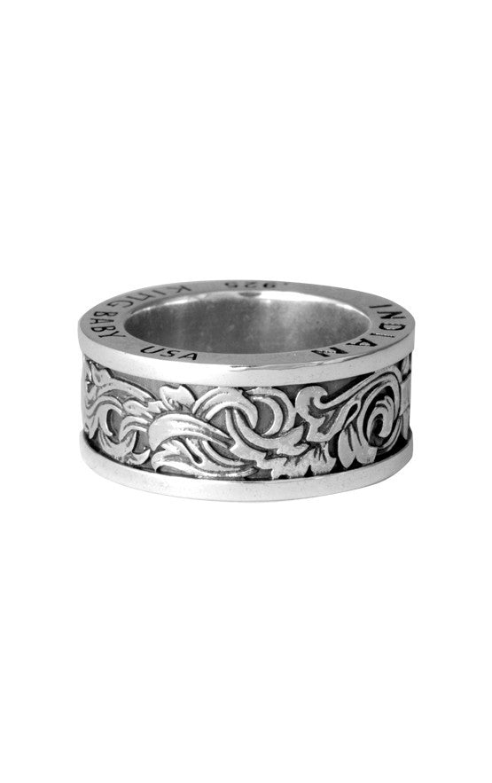 Engraved Scroll Band