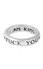 king baby fuck you stackable ring