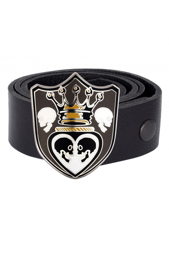 Crowned Heart Shield Buckle