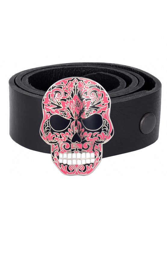 Buckles | Pink Baroque Skull Buckle