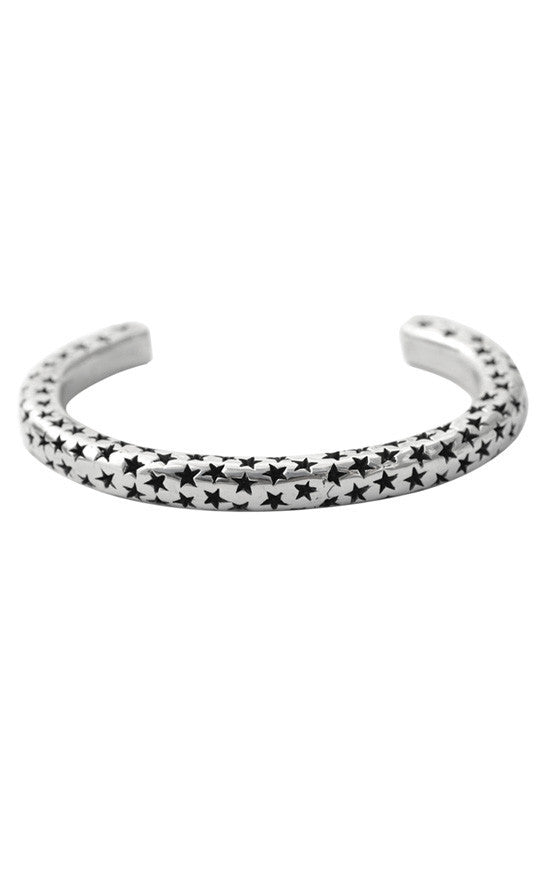 king baby mens silver star bracelet