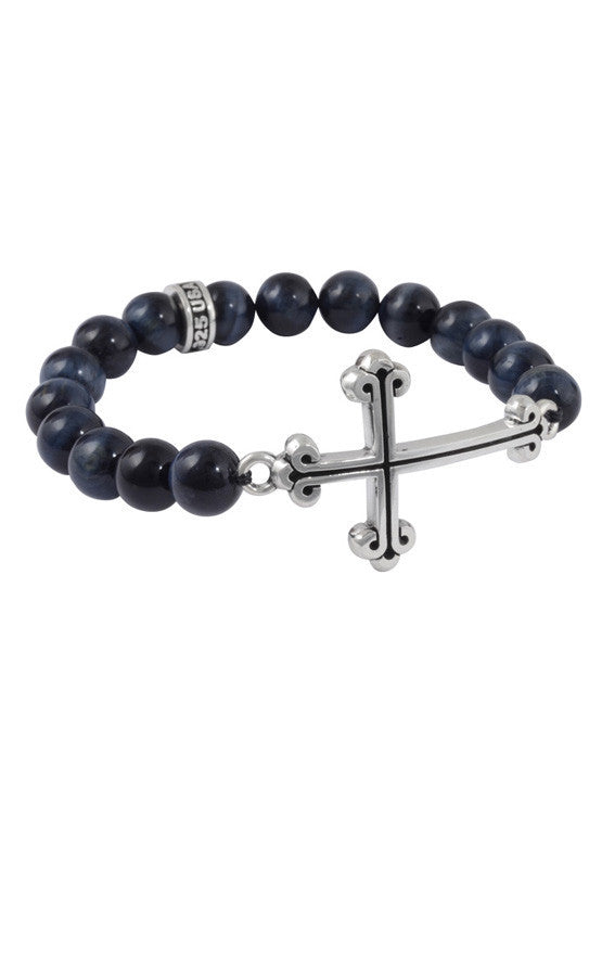 king baby men's cross bracelet