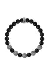 8mm Onyx Bead Bracelet with Five Stingray Beads
