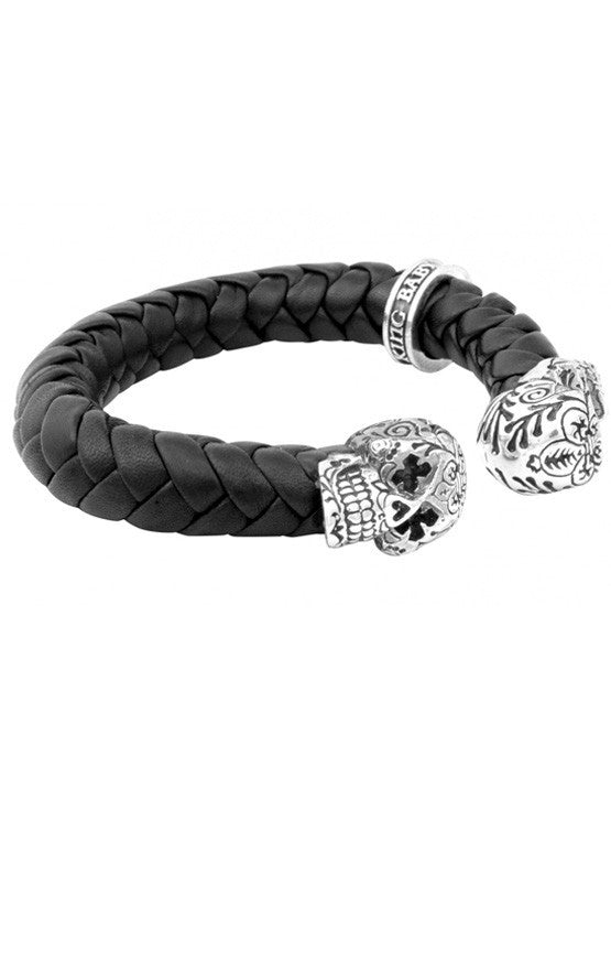 king baby men's day of the dead skull bracelet