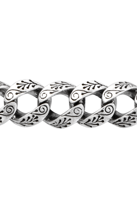 Small Day of the Dead Carved Link Bracelet