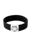 Black Elastic Bracelet with Star Concho