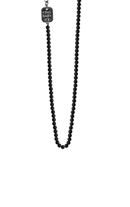 3mm Onyx Bead Necklace
