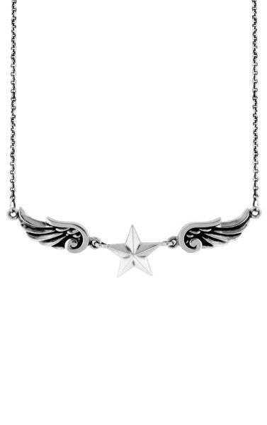king baby wing star necklace