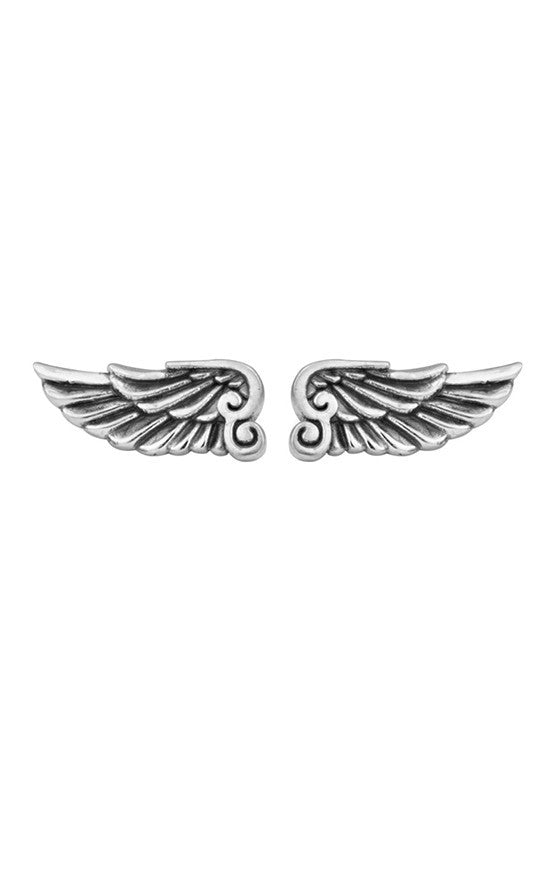 king baby wing post earrings