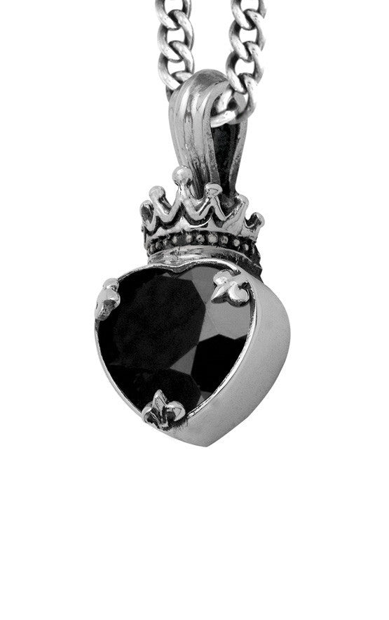 Large Black Onyx Heart Pendant