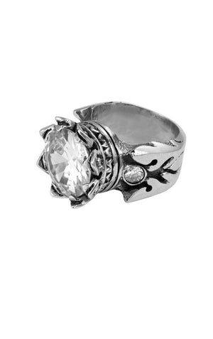 13mm Crown Ring w/ CZ