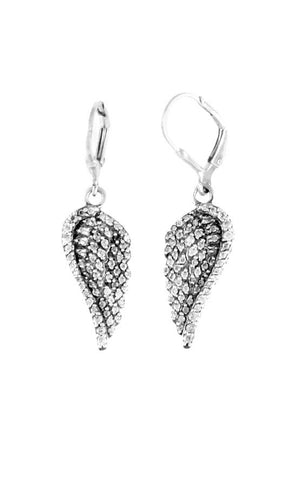 Pave CZ Wing Earrings