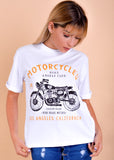 Polo California - Motorcycle - Blanco