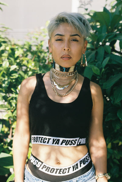 Protect Ya Puss Crop Top (Black)