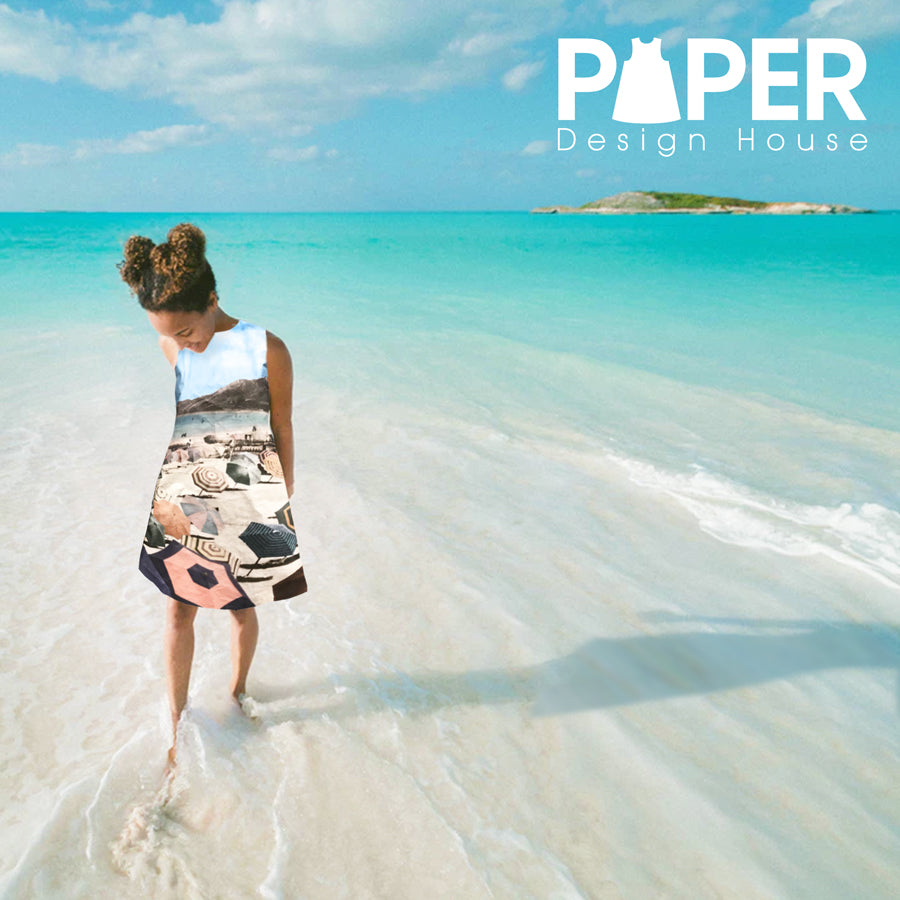 By the Sea: Paper Beach Scene