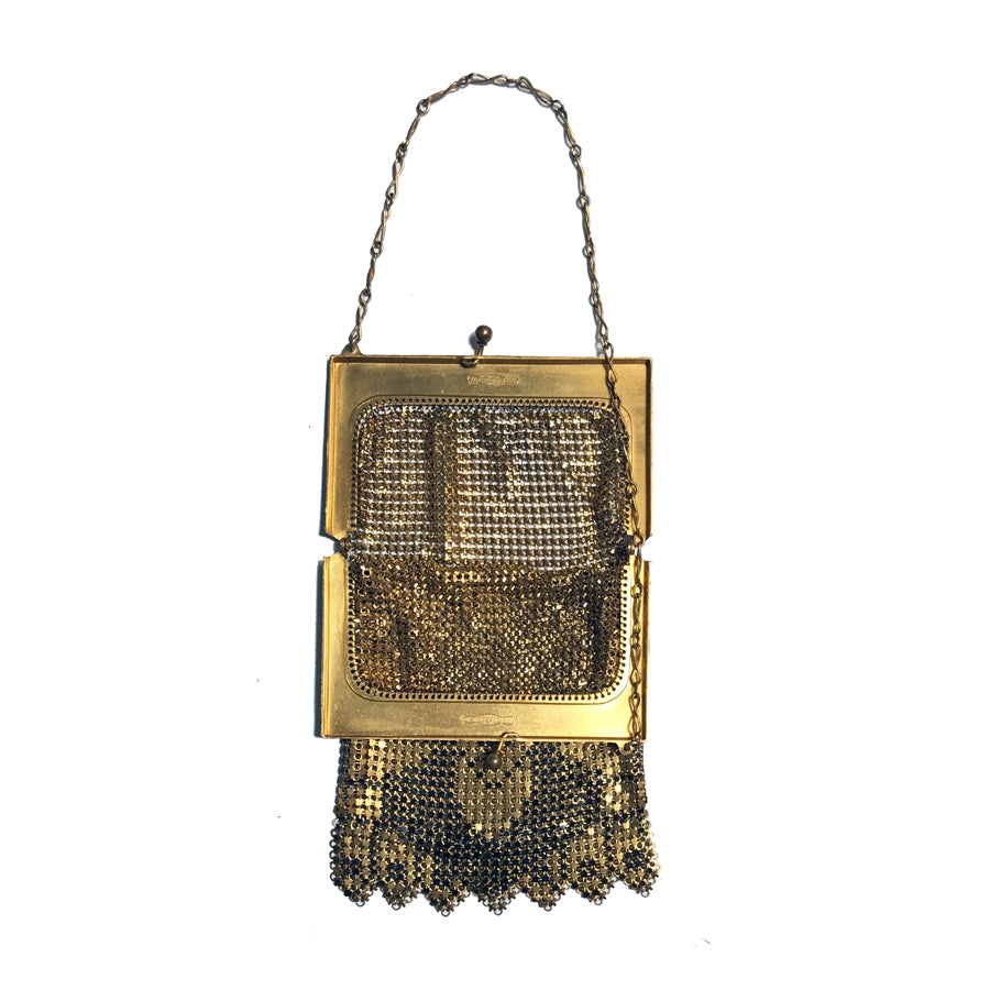 1920's Art Deco Whiting & Davis Enamel Evening Bag