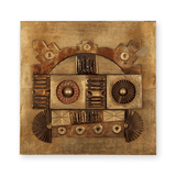 Vintage Brutalist Abstract Owl Wall Panel