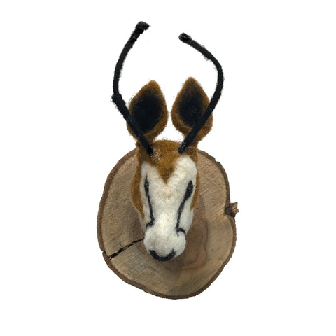Felted Animal Plaque | Fallow Deer