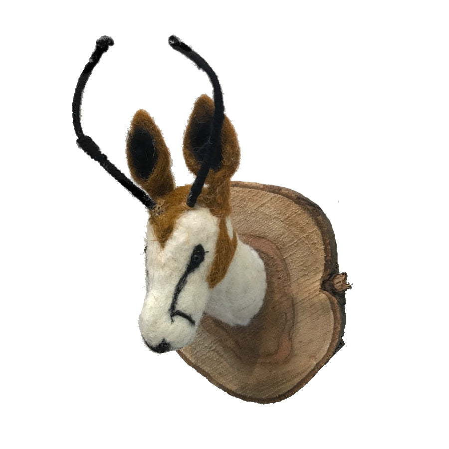 Felted Animal Plaque | Antelope