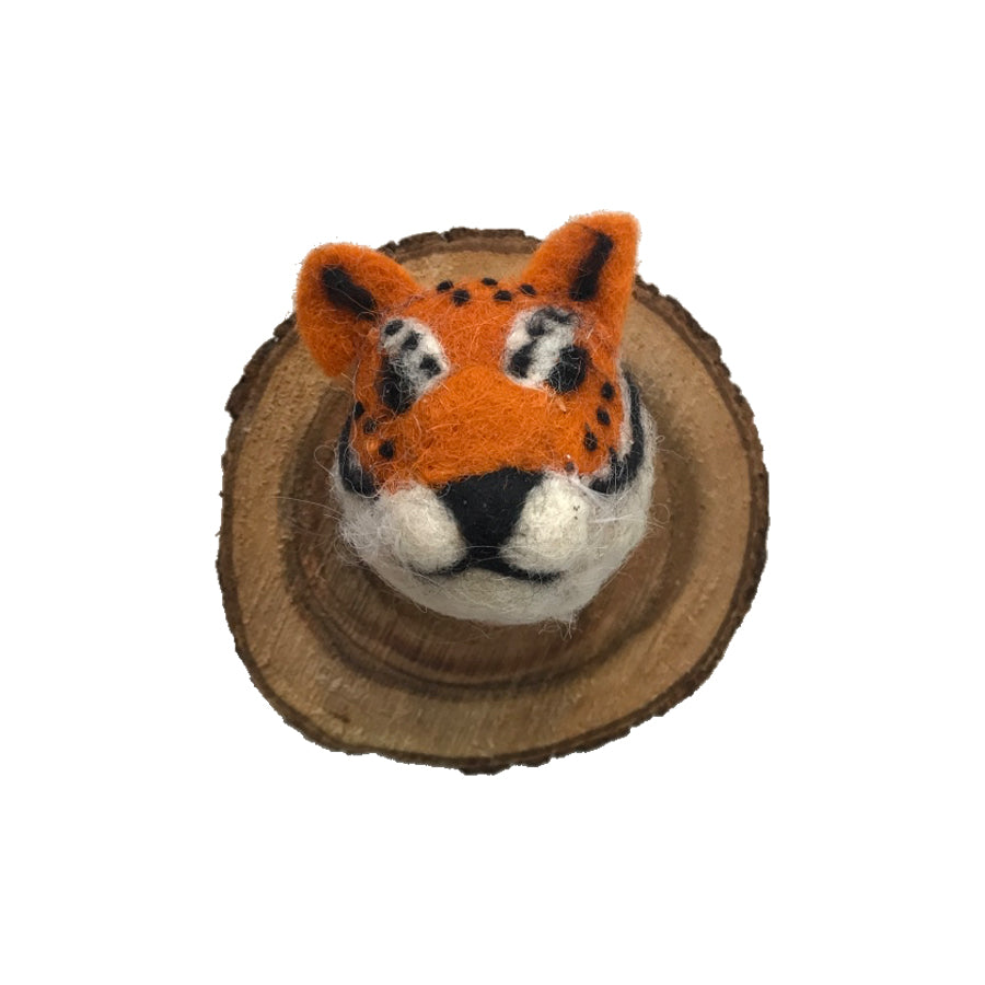 Felted Animal Plaque | Tiger