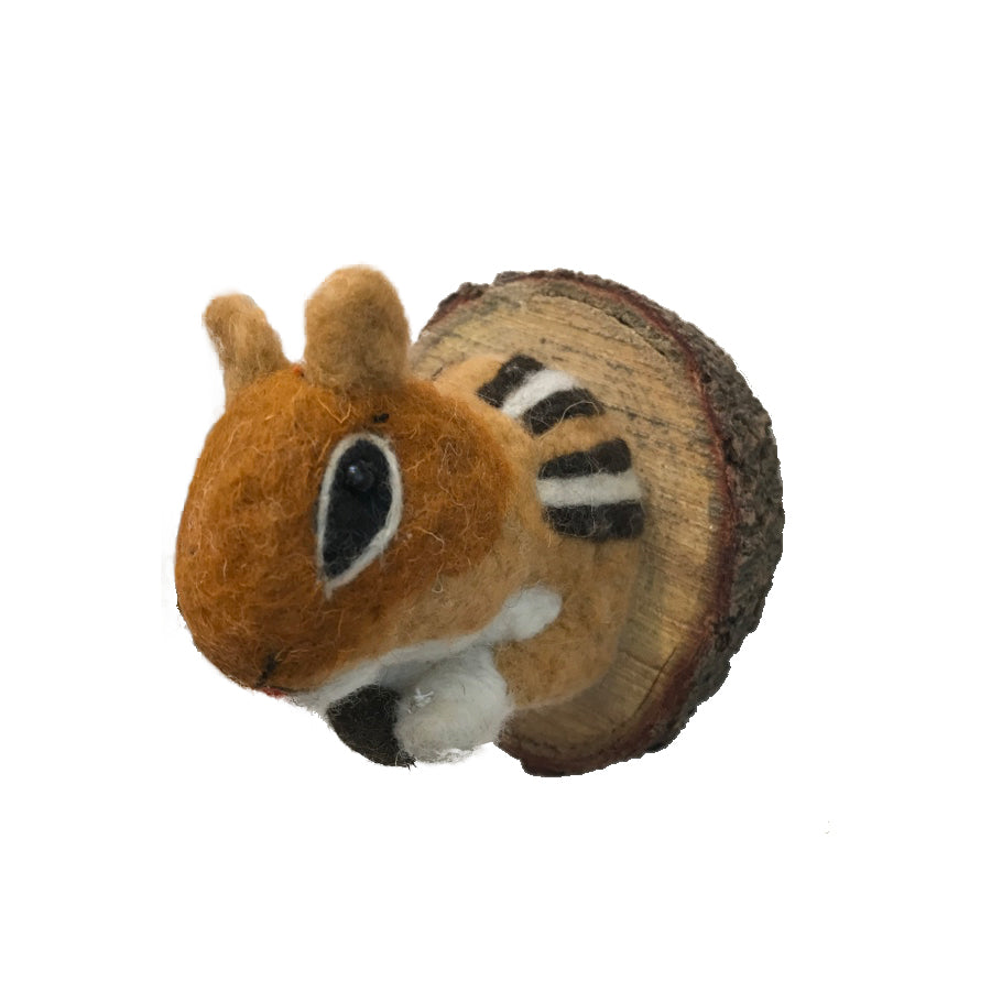 Felted Animal Plaque | Chipmunk