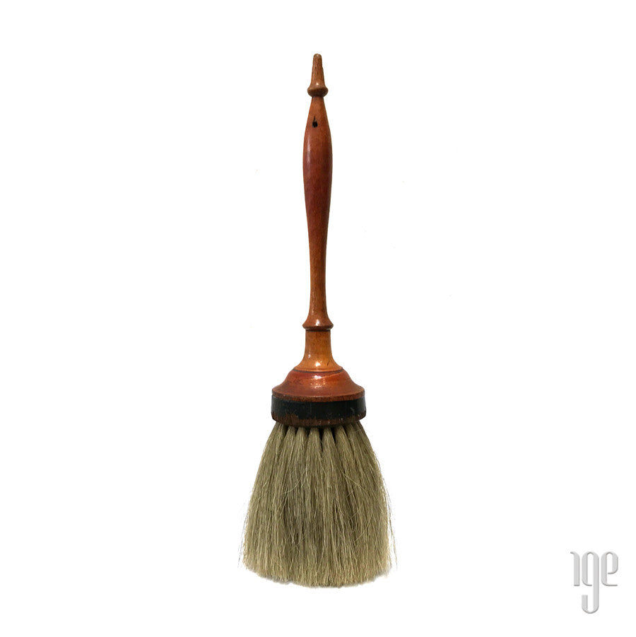 1800's Large Turned Horsehair Brush