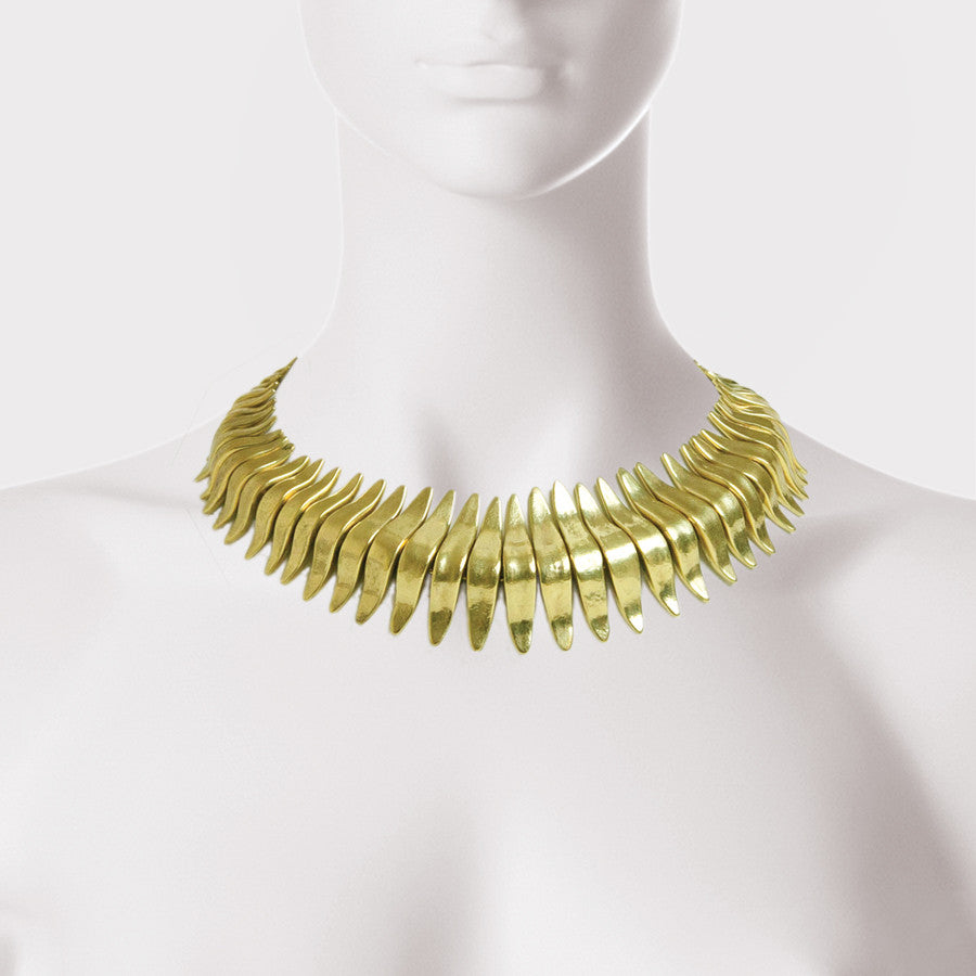 Spiked Wave Necklace