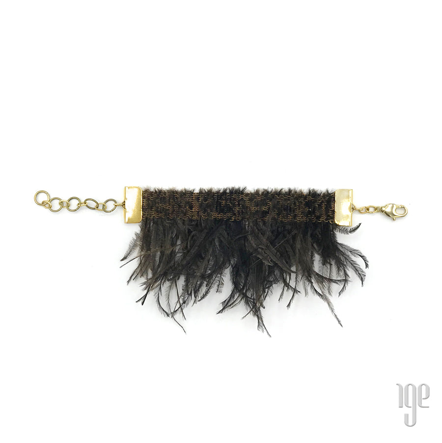 Woven Feather Fringe Bracelet