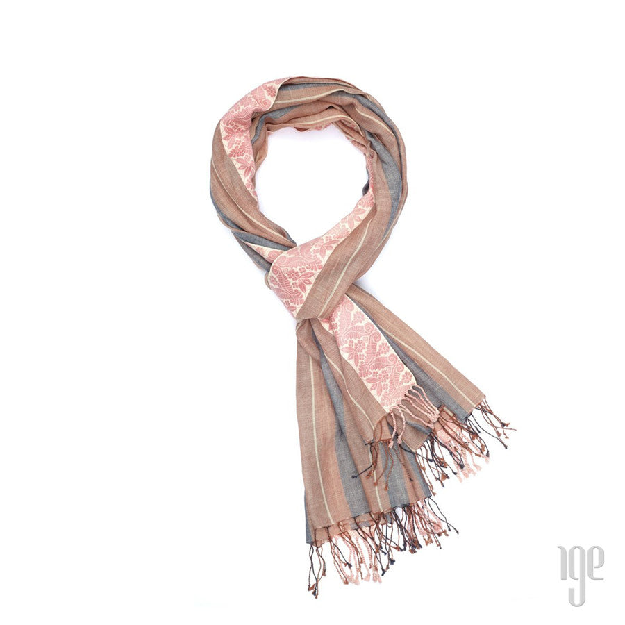 Jacquard Bengal Boarder Scarf