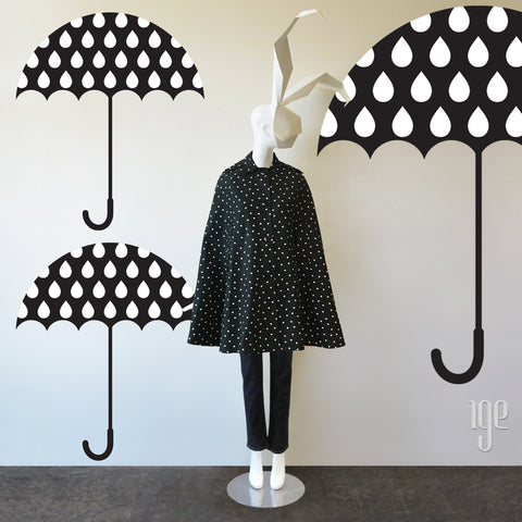 70s Bonwit Teller Polka Dot Cape - Raincoat