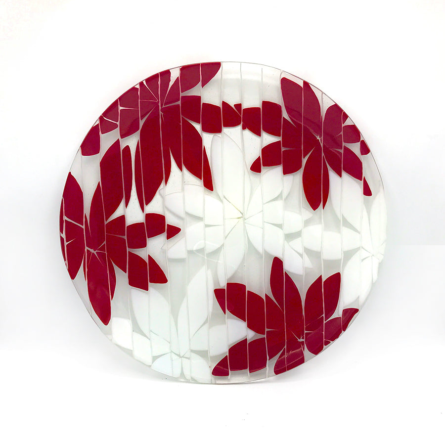 Fused Floral Glass Platter | Beatrice Tesdorpf
