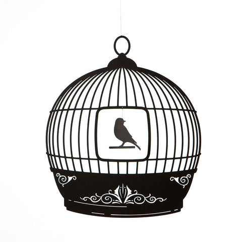 Bird Cage Mobile - black