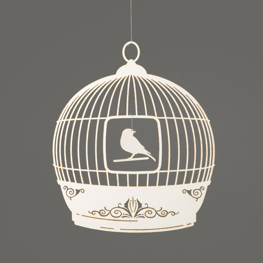 Bird Cage Mobile - ivory