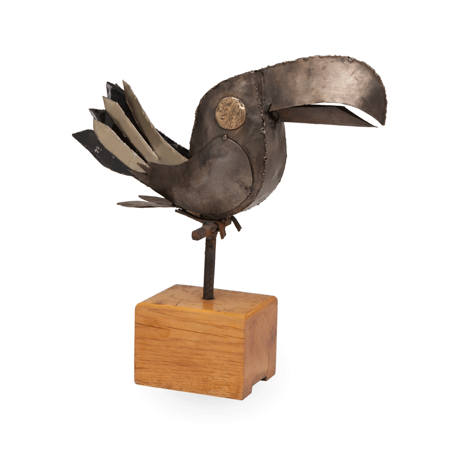Vintage Toucan Metal Sculpture