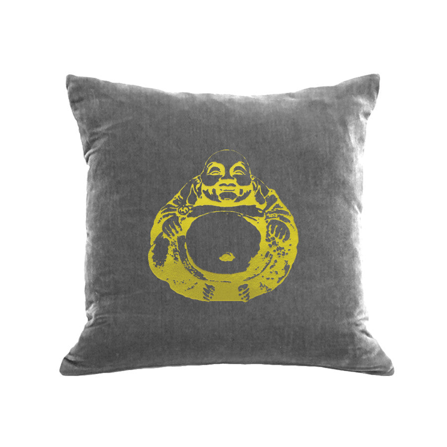 Buddha Pillow - platinum / gold foil