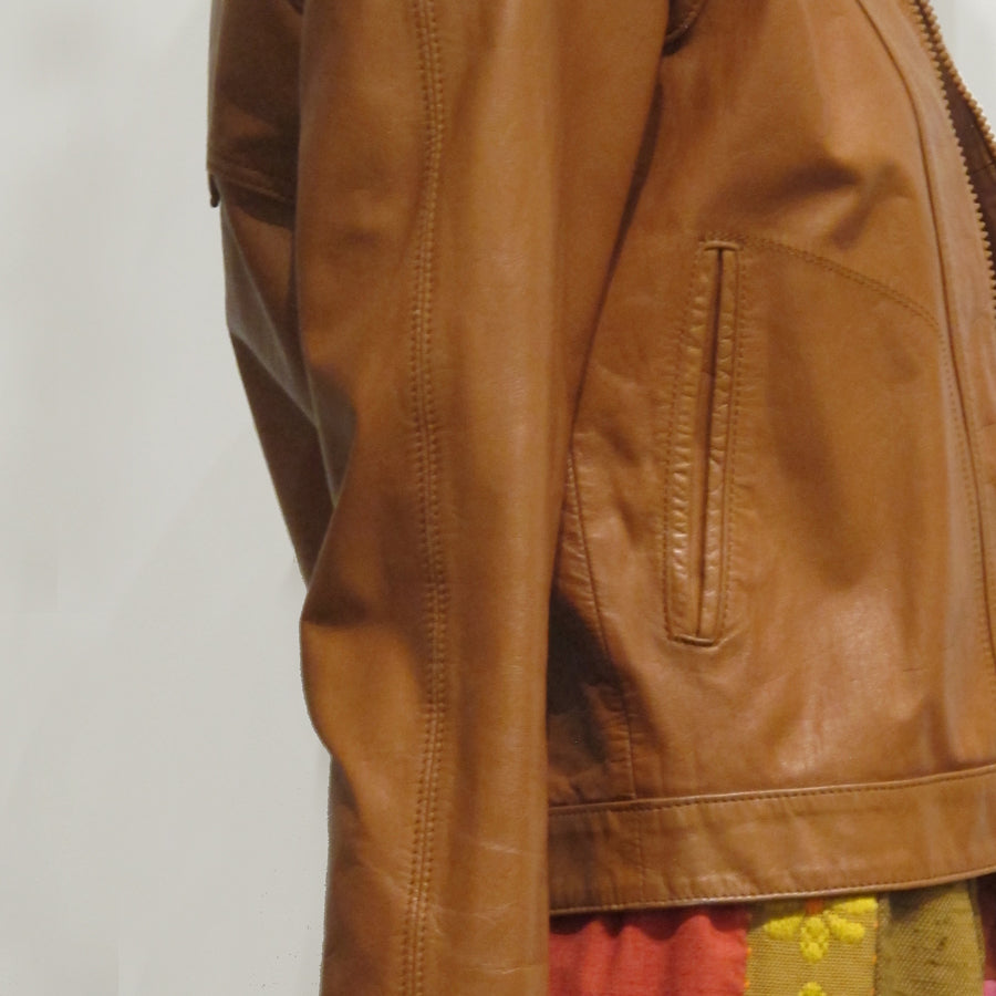 80's Leather Racer Jacket