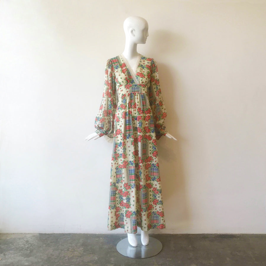 Vintage Drama Sleeve Empire Prairie Dress