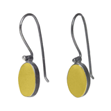 22kt Gold and Sterling Oval Drop Earrings
