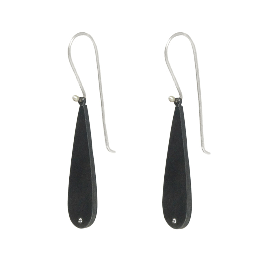 Teardrop with Diamond Earrings