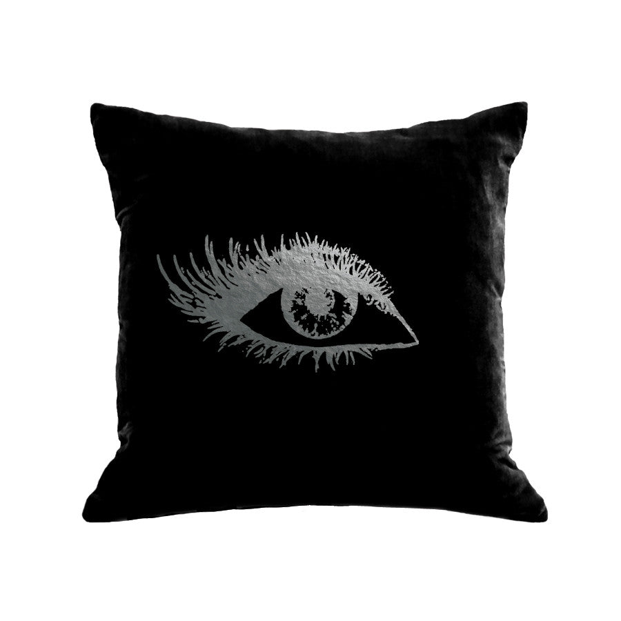 Eye Pillow (Right) - black / gunmetal foil