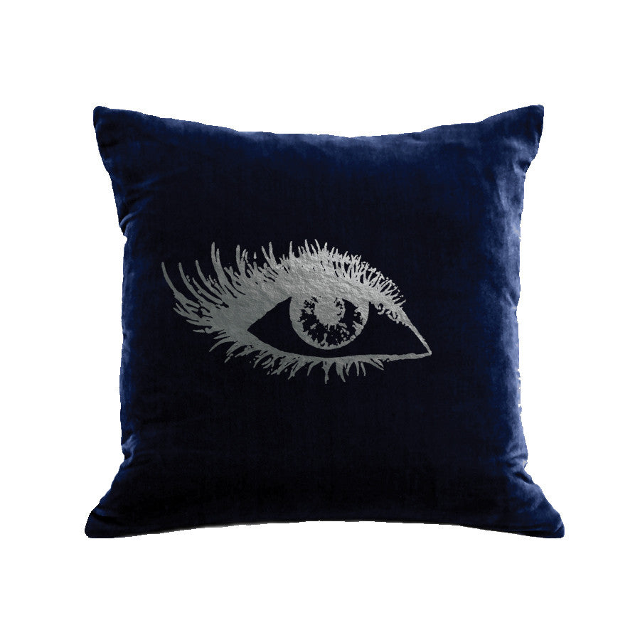 Eye Pillow (Right) - navy / gunmetal foil