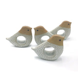 70s Stoneware Bird Napkin Holders (set of 4)